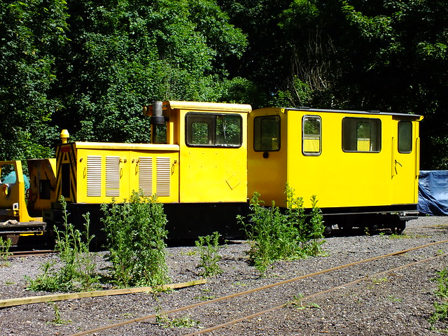 2ft 6in gauge Baguley Drewry diesel ex RNAD Trecwn, Wales, at the Royal Gunpowder Mills