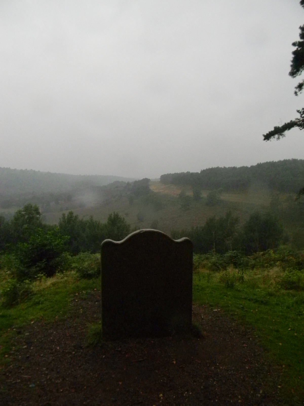 Sailors stone Marks the site of a murder. Devils Punchbowl, Milford to Haslemere
