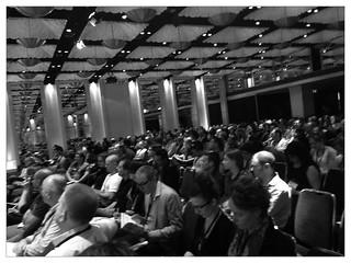 The audience prepares to hear @odannyboy open #uxaustralia