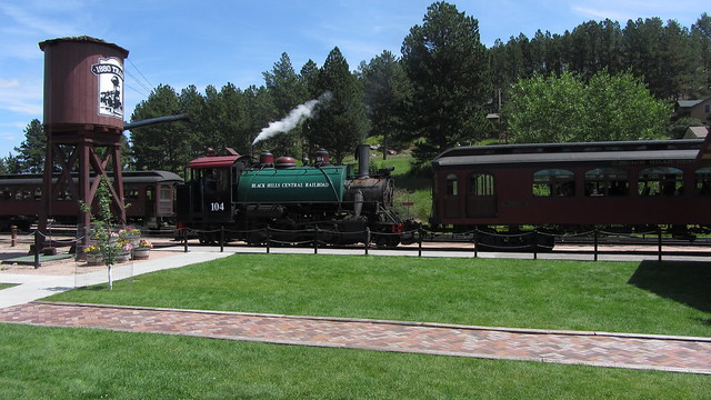 IMG_2462 Black Hills Central Railroad train steam locomotive engine Hill City SD