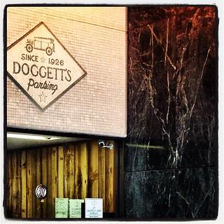Doggett's Parking. Since 1926.