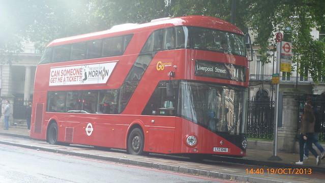 P1170627 LT46 LTZ 1046 at Grosvenor Gardens Buckingham Palace Road Victoria London