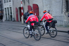Bike cops, Gent