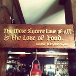 A very appropriate sentiment I saw in a pub yesterday