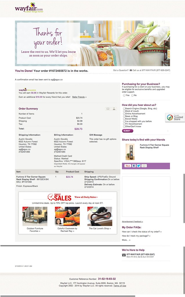 Wayfair us website
