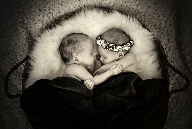 219A9847-bw Newborn twins