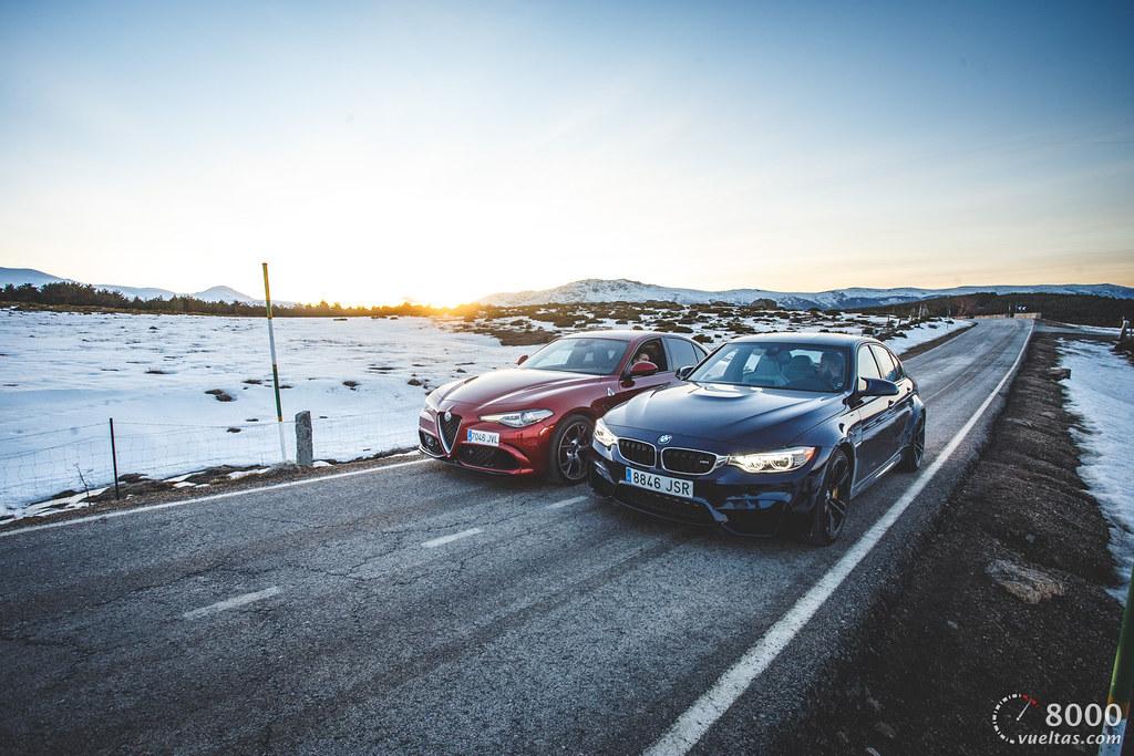 Alfa Romeo Giulia Quadrifoglio vs BMW M3 F80