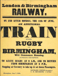 London and Birmingham Railway additional train notice 1838 | by ian.dinmore
