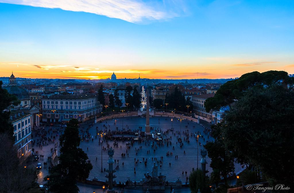 Sunset From Terrazza Del Pincio 6 Roma Lazio Italia Flickr