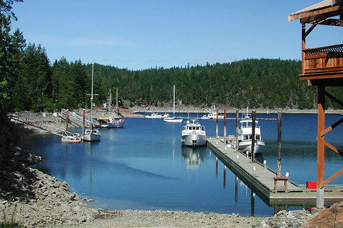 Seattle Yacht Club in Cortes Bay, Cortes Island, Discovery Islands, British Columbia