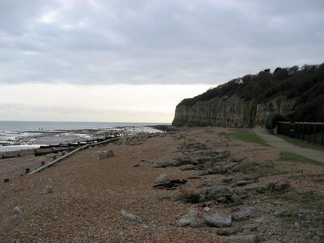 The beach at Cliff End