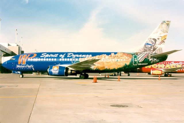 Western Pacific Airlines | Boeing 737-300 | N946WP | Spirit of Durango livery | Denver International