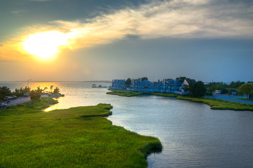 sunset water landscape bay nikon outdoor oceancitymaryland isleofwightbay bobmical