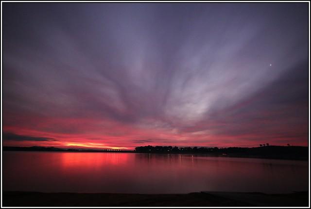 Twilight Across Lake Hume
