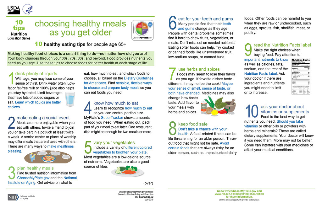 """New 10 Tips Resource, """"Choosing Healthy Meals As You Get O… 