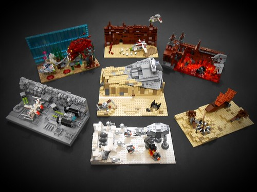 Star Wars Episode I-VII. mini dioramas.
