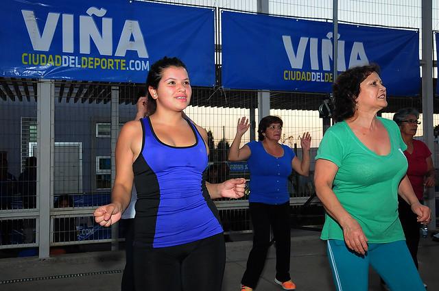 """Exitoso paso del """"Zumba Tour Viña 2015"""" por Achupallas"""