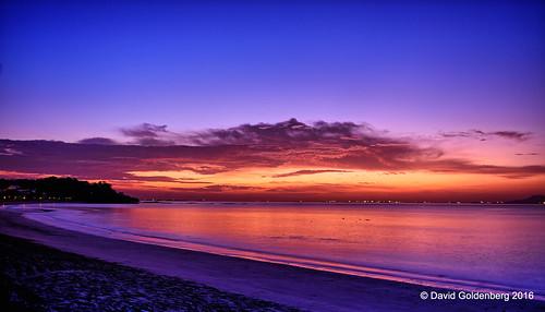 panama beach dawn sunrise hdr purple magenta sea sky sun clouds davidgoldenberg