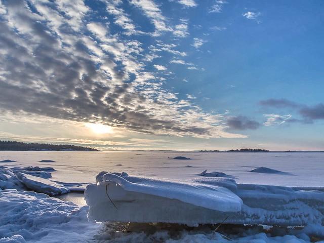 a beautiful winter evening