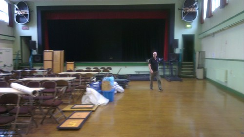 An empty St. Peter's Hall