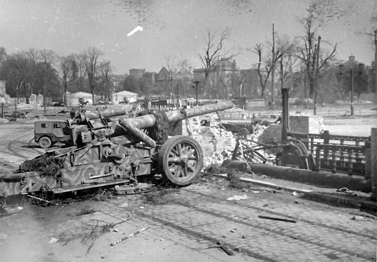 Deutsch 210-mm-schwere Feld-Haubitze Frau 18