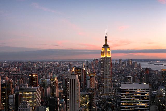 Twilight on the city