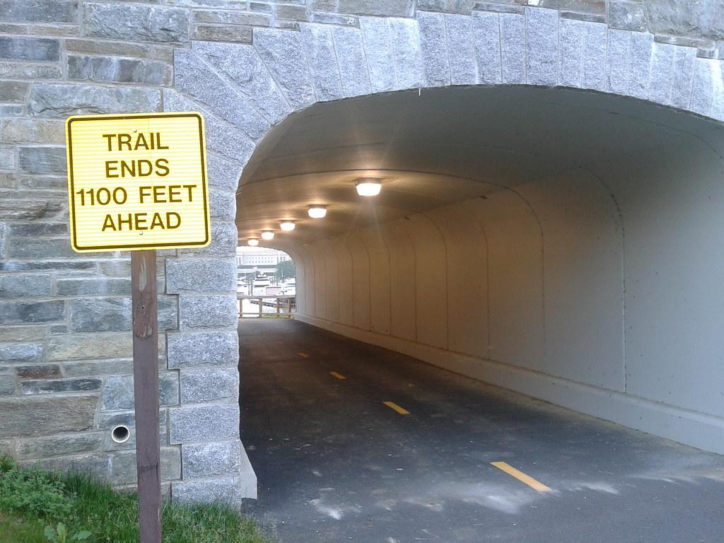 Humpback Bridge bicycle trail tunnel