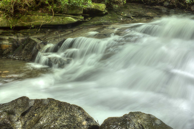 Unnamed waterfall 3, Looking Glass Creek, Pisgah National Forest, Transylvania County, North Carolina