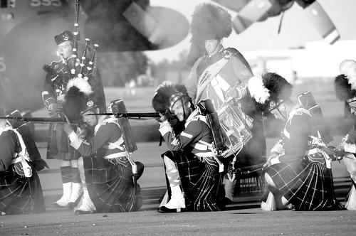 sunset bw white black monochrome nikon ceremony greenwood airforce nikkor halifax citadelhill rcaf highlanders 78th canadianforces d90 cfb 78thhighlanders sunsetceremony 55300 cfbgreenwood 14winggreenwood 55300mm 14wing