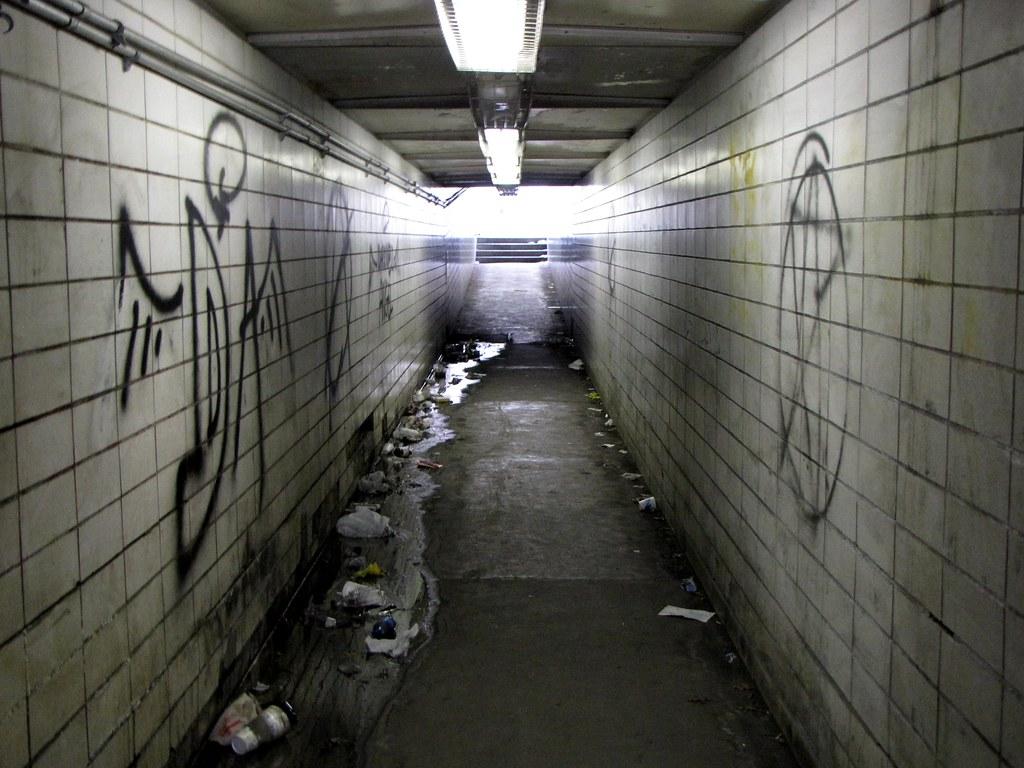 Pedestrian tunnel under Queen City Drive