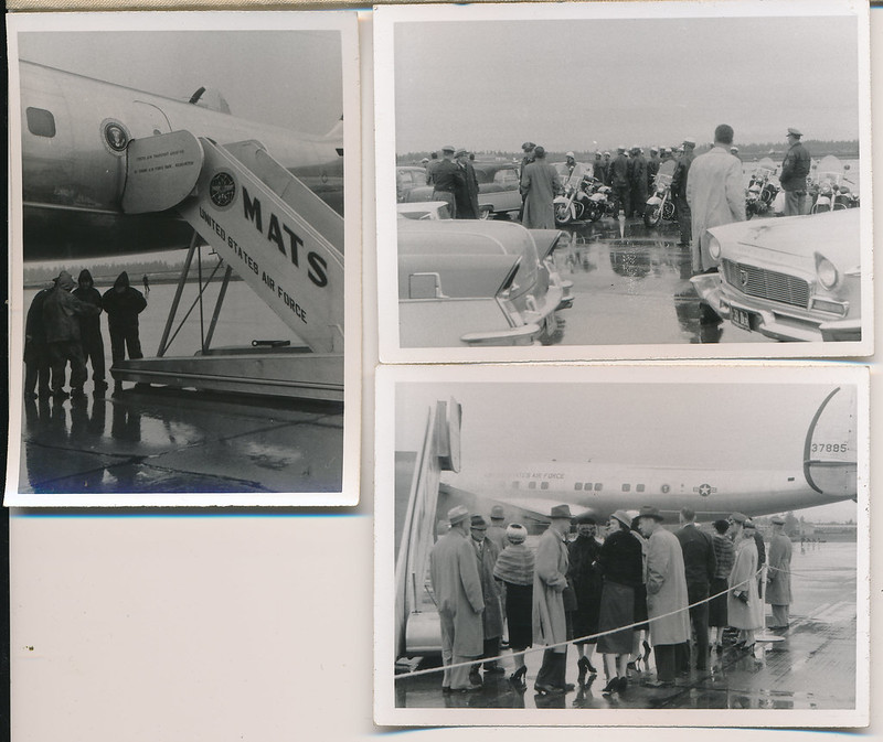 President Eisenhower visits McChord AFB Oct 18 1956 Group 02