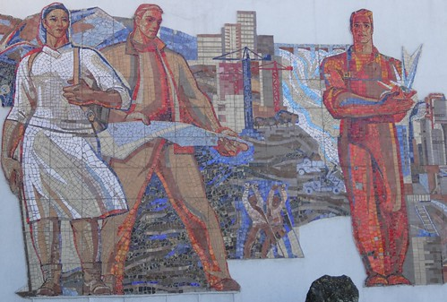 Mosaic on the side of a building in Karaganda | by meadowsaffron