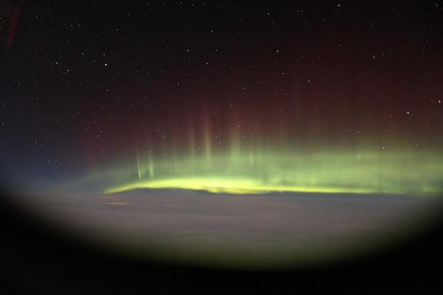 Aurora on London-NY Flight
