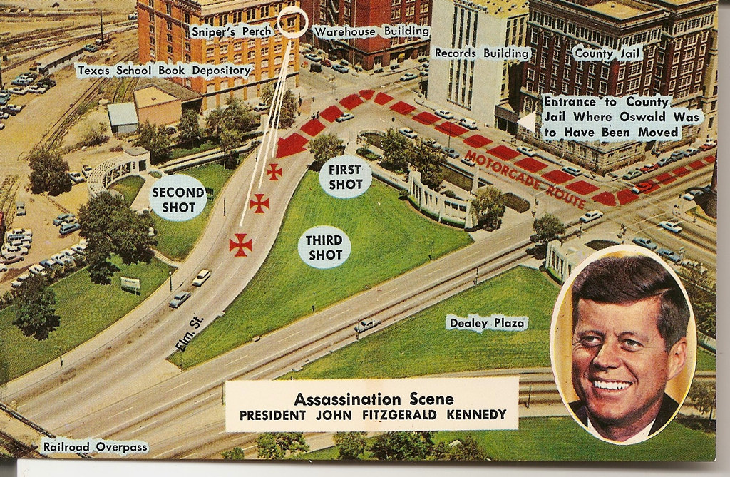 Where Was Jfk Shot Map Dallas Postcard: Map of JFK's 1963 Assassination | For the 5… | Flickr