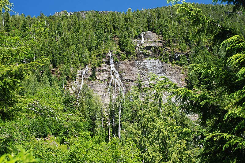 Three Sisters Falls, Tahsis, North Vancouver Island, British Columbia, Canada