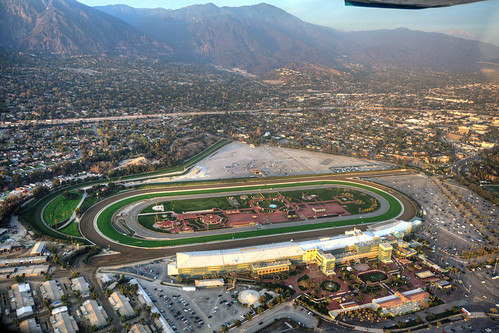 Aerial View Of Santa Anita Race Track This Was Snapped