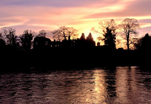 trees sunset abbey river ruin tees teesdale photogene