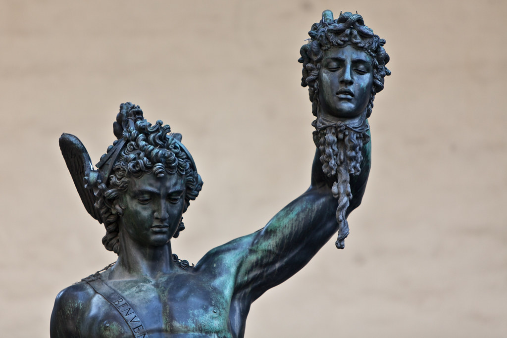 Perseus With The Head Of Medusa Florence Italy Thomas