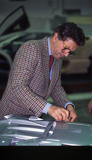 Marcello Gandini - at work on scale model