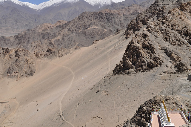 High Altitude Desert-A View from Thikse Gompa