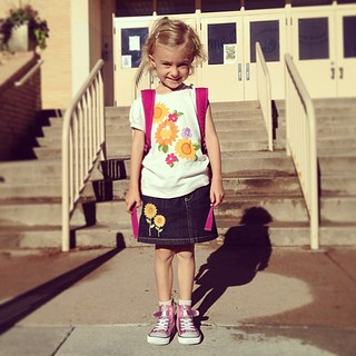 Just a few tears were shed. (By us, not her) #firstday of Kindergarten | by dhgatsby