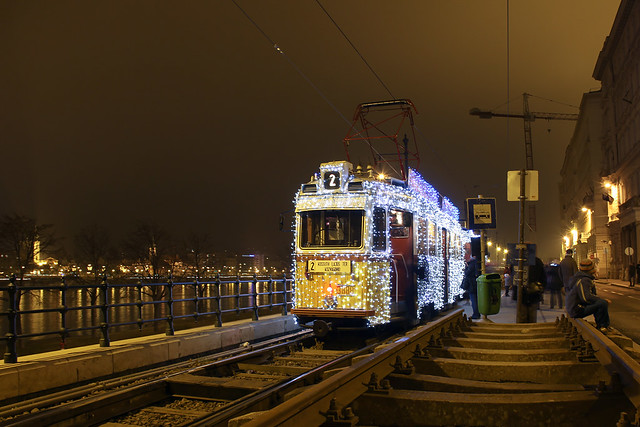 Christmas tram in Budapest 24
