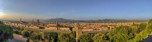Florence (Firenze), Italy at Dusk (Panorama) - from the Piazzale Michelangelo | by cglphoto