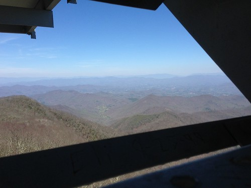 mountains tower view firetower