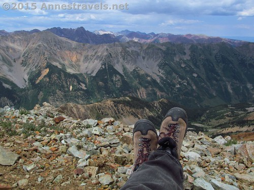 Chillaxing in Electric Pass, White River National Forest, Colorado