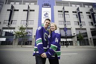 Jess & Cam, Rogers Arena Engagement Photos