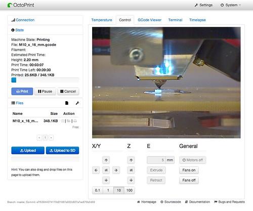 OctoPrint - 3D print server on Raspberry Pi - Screenshot v02.png | by Creative Tools