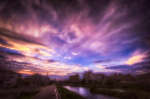 sunset sky clouds 雲 空 otogawa 日没 fav10 davidlaspina otoriver 乙川 japandave