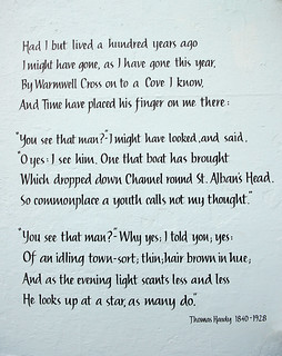 """""""At Lulworth Cove A Century Back""""-1920 Poem By Thomas Hardy (1840-1928)   by PANDOOZY PHOTOS"""