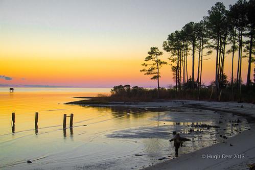 ocean autumn fall beach sunrise river neck bay virginia chesapeake ware wanderrlust hughderr